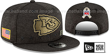 Chiefs '2020 SALUTE-TO-SERVICE SNAPBACK' ST Black Hat by New Era