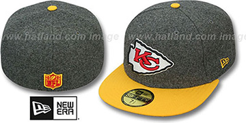 Chiefs '2T NFL MELTON-BASIC' Grey-Gold Fitted Hat by New Era