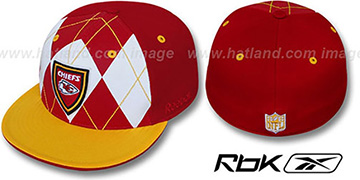 Chiefs 'ARGYLE-SHIELD' Red-Gold Fitted Hat by Reebok