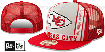 Chiefs BANNER FOAM TRUCKER SNAPBACK Hat by New Era
