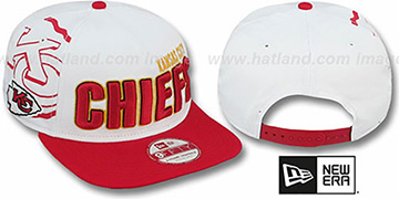 Chiefs 'BIGSIDE A-FRAME SNAPBACK' White-Red Hat by New Era