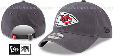 Chiefs CORE-CLASSIC STRAPBACK Charcoal Hat by New Era