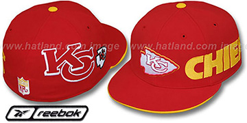Chiefs ELEMENTS 2 Fitted Hat by Reebok - red