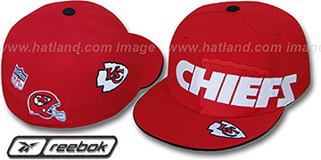 Chiefs ELEMENTS Fitted Hat by Reebok - red