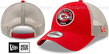 Chiefs ESTABLISHED CIRCLE TRUCKER SNAPBACK Hat by New Era