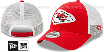 Chiefs FRAYED LOGO TRUCKER SNAPBACK Hat by New Era