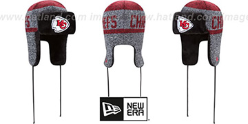 Chiefs 'FROSTWORK TRAPPER' Red Knit Hat by New Era