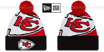 Chiefs 'LOGO WHIZ' Red-Black Knit Beanie Hat by New Era