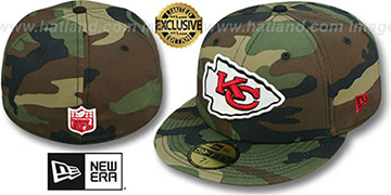 Chiefs 'NFL TEAM-BASIC' Army Camo Fitted Hat by New Era