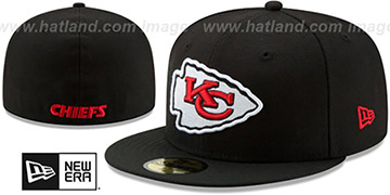 Chiefs NFL TEAM-BASIC Black Fitted Hat by New Era