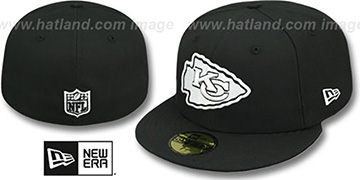 Chiefs NFL TEAM-BASIC Black-White Fitted Hat by New Era