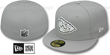 Chiefs NFL TEAM-BASIC Grey-Black-White Fitted Hat by New Era