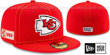 Chiefs ONFIELD SIDELINE ROAD Red Fitted Hat by New Era