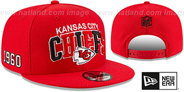 Chiefs ONFIELD STADIUM 100 SNAPBACK Hat by New Era