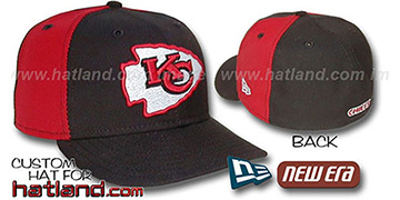 Chiefs PINWHEEL 2 Black-Red Fitted Hat
