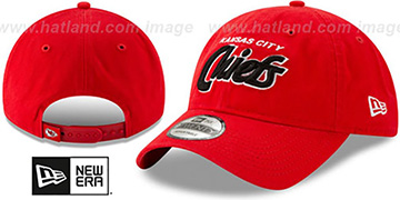 Chiefs RETRO-SCRIPT SNAPBACK Red Hat by New Era
