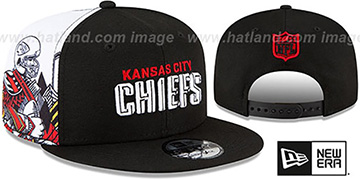 Chiefs 'SIDE-CARD SNAPBACK' Black Hat by New Era