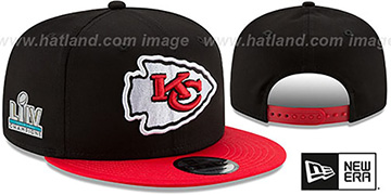 Chiefs SUPER BOWL LIV CHAMPIONS SNAPBACK Black-Red Hat by New Era