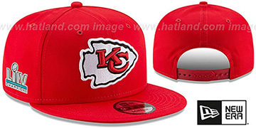 Chiefs SUPER BOWL LIV CHAMPIONS SNAPBACK Red Hat by New Era
