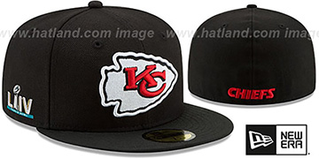 Chiefs 'SUPER BOWL LIV TEAM-BASIC' Black Fitted Hat by New Era