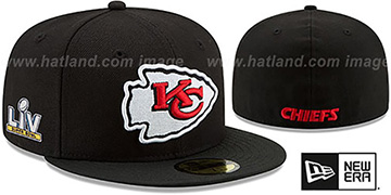 Chiefs SUPER BOWL LV TEAM-BASIC Black Fitted Hat by New Era