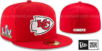 Chiefs SUPER BOWL LV TEAM-BASIC Red Fitted Hat by New Era
