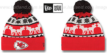 Chiefs THE-MOOSER Knit Beanie Hat by New Era