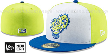 Chihuahuas COPA White-Yellow-Blue Fitted Hat by New Era