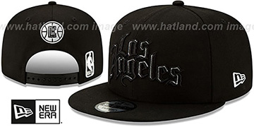 Clippers 19-20 CITY-SERIES ALTERNATE SNAPBACK Black Hat by New Era