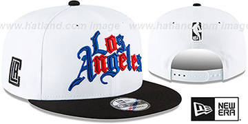 Clippers 20-21 'CITY-SERIES' ALTERNATE SNAPBACK White-Black Hat by New Era