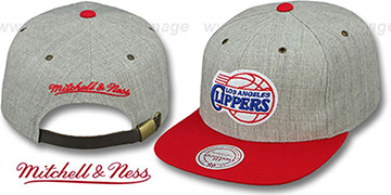 Clippers '2T-HEATHER STRAPBACK' Hat Mitchell & Ness