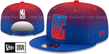 Clippers BACK HALF FADE SNAPBACK Hat by New Era