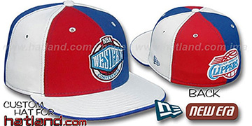 Clippers CONFERENCE PINWHEEL Red-Royal-White Fitted Hat