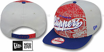 Clippers ESPN BRICK A-FRAME SNAPBACK Hat by New Era