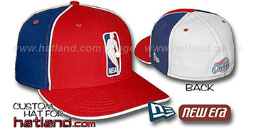 Clippers LOGOMAN-2 Red-Royal-White Fitted Hat by New Era