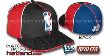 Clippers LOGOMAN-3 Black-Red-Royal Fitted Hat by New Era