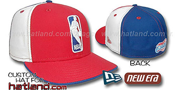 Clippers 'LOGOMAN' Red-White-Royal Fitted Hat by New Era
