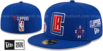 Clippers MULTI-AROUND Royal Fitted Hat by New Era