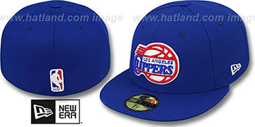 Clippers 'NBA-CHASE' Royal Fitted Hat by New Era
