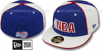 Clippers 'NBA PINWHEEL 2' Royal-White Fitted Hat by New Era
