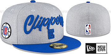 Clippers ROPE STITCH DRAFT Grey-Royal Fitted Hat by New Era