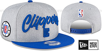 Clippers 'ROPE STITCH DRAFT SNAPBACK' Grey-Royal Hat by New Era