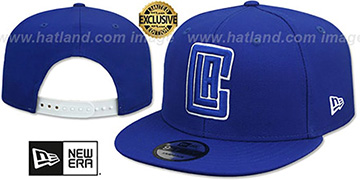 Clippers TEAM-BASIC SNAPBACK Royal-White Hat by New Era