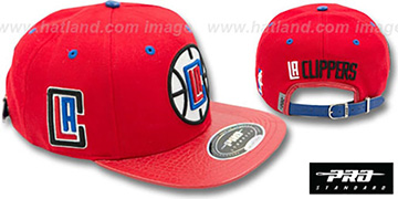 Clippers 'TEAM-BASIC STRAPBACK' Red Hat by Pro Standard