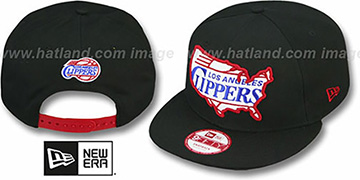 Clippers TEAM-INSIDER SNAPBACK Black Hat by New Era