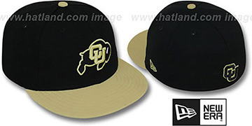 Colorado 2T NCAA-BASIC Black-Gold Fitted Hat by New Era