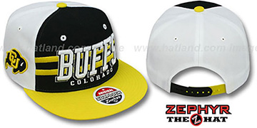Colorado 2T SUPERSONIC SNAPBACK Black-Gold Hat by Zephyr