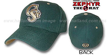 Colorado State 'DH' Fitted Hat by ZEPHYR - dark green