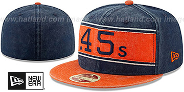 Colt .45s COOPERSTOWN HERITAGE BAND Navy-Orange Fitted Hat by New Era