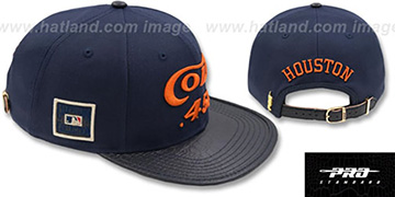 Colt .45s TEAM-BASIC STRAPBACK Navy Hat by Pro Standard